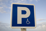 Blue Disabled Parking Sign poster