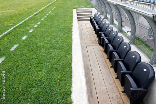 Papiers peints Stade de football banc de touche