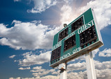 HIgh School Score Board on a Blue Sky