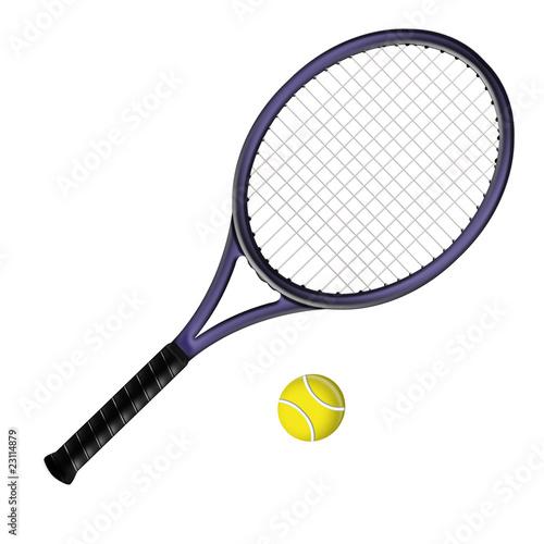 Raquette de tennis photo libre de droits sur la banque d - Dessin raquette ...