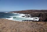 Rocky Beach and cliffs, Cape Spear, Newfoundland, Canada poster