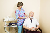 Ultrasound Therapy for Senior Man poster