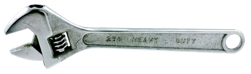 clé à molette, fond blanc