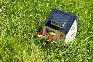 house on grass