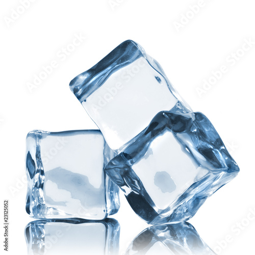 ice cubes isolated on white - 23125052