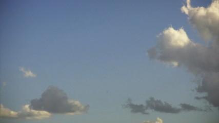 Time lapse blue sky