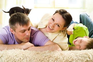 family on the carpet