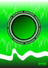Abstract disko green background