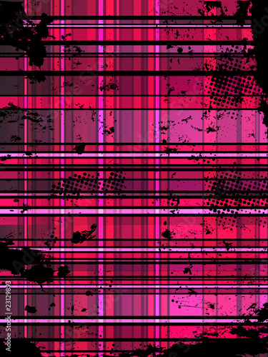 Checkered Pink Grunge Background.