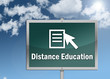 "Road Sign ""Distance Education"""
