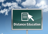"""Road Sign """"Distance Education"""""""