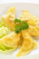 Fried kreplach (Jewish ravioli)