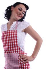 freundliche Hausfrau