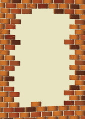 grunge brown brick wall blank