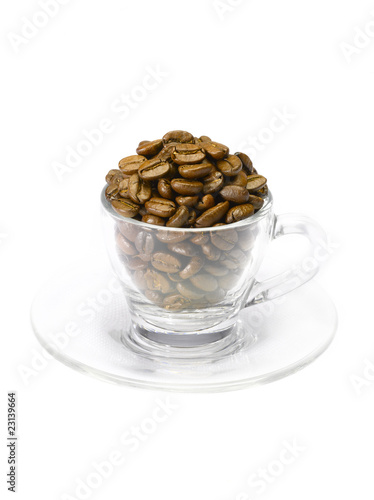 overflowing coffee beans