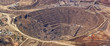 Aerial view of enormous copper mine at palabora, south africa - 23141047