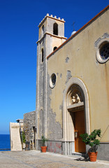 Medieval church in Cefalu, Sicily