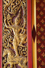 detail of buddhism temple