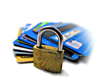 Credit card security safety - pin and password poster