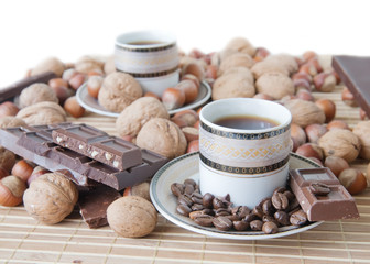 cup of coffee with nuts