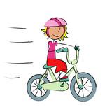 Fototapety fillette sur vélo