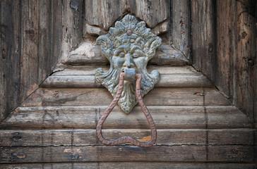 Doorknocker Altamura Cathedral Portal.  Apulia.