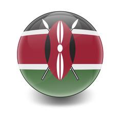 Esfera brillante con bandera Kenia