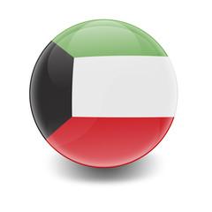 Esfera brillante con bandera Kuwait