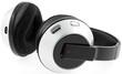 casque écouteur sans fil, fond blanc