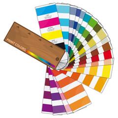 Nuancier de couleurs, vecteur