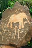 Prehistoric Neolithic African rock art poster