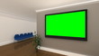 Green Screen Background Interior Office