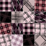 checked patchwork pattern poster