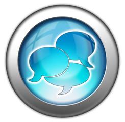 "Glossy 3D effect button ""Chat / Speech Bubbles"""