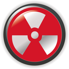 Vector. radioactive sign symbol icon
