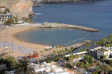 Beach in Puerto de Mogan, Grand Canary Island, Spain