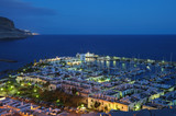 Puerto de Mogan at night, Grand Canary Island, Spain