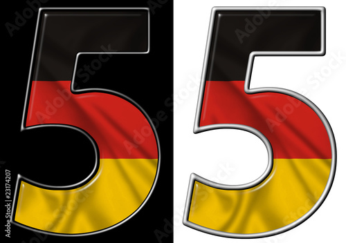 Number 5 showing German flag