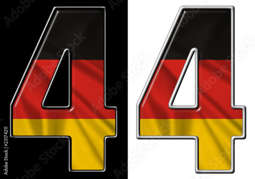 Number 4 showing German flag