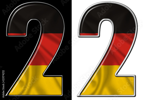 Number 2 showing German flag