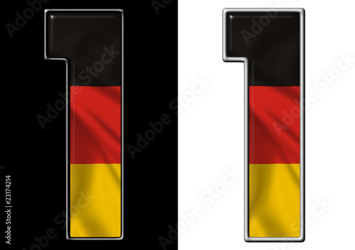 Number 1 showing German flag