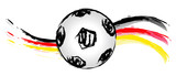 German soccer ball wave