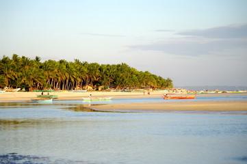 Philippines, Bantayan -  White sugar beach sunset