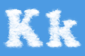 Clouds in shape of the letter