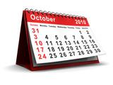 october 2010 calendar poster