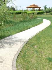 footpath to pavilion