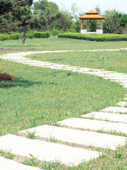 footpath to pavilion