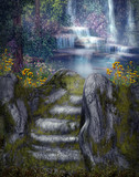 Fototapety Magiczne wodospady