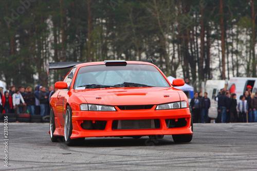 Foto op Plexiglas Motorsport Red sport car