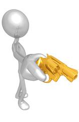 Aiming A Gun